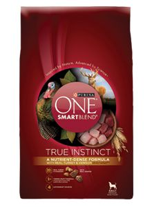 I love that I got this FREE!  My dog loves it!  Purina ONE SmartBlend True Instinct - Dry Dog Food
