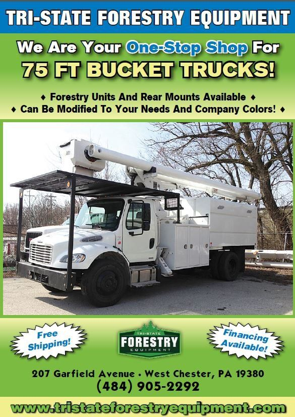 Welcome to Tri-State Forestry Equipment. We are located in Chester County, PA, and an experienced trader specializing in nationwide sales of used arborist and forestry supplies, with everything ranging from bucket trucks to stump grinders to log trucks.