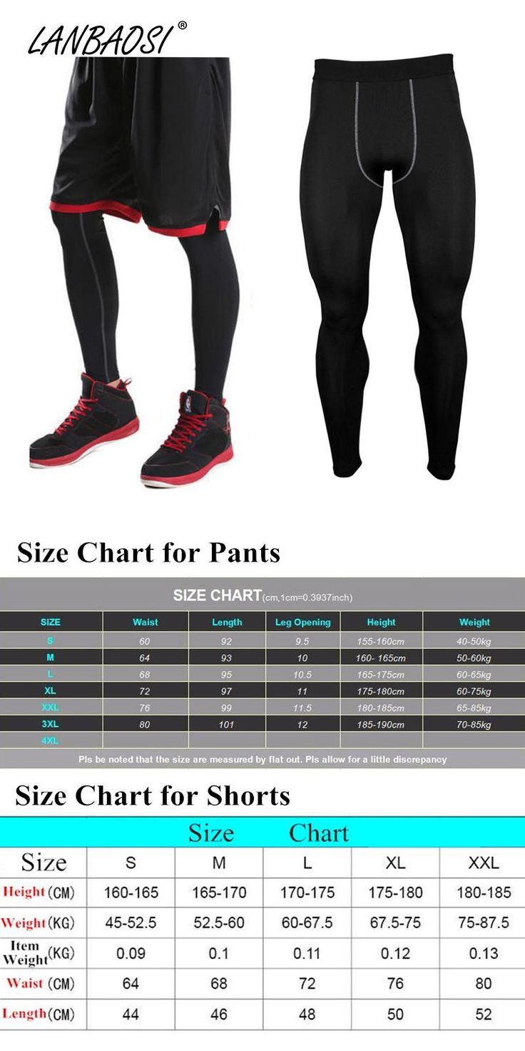 [Visit to Buy] LANBAOSI Athletic Compression Pants Baselayer Tights for Men Running Jogging GYM Workout Fitness Basketball  Skin Tight Leggings #Advertisement