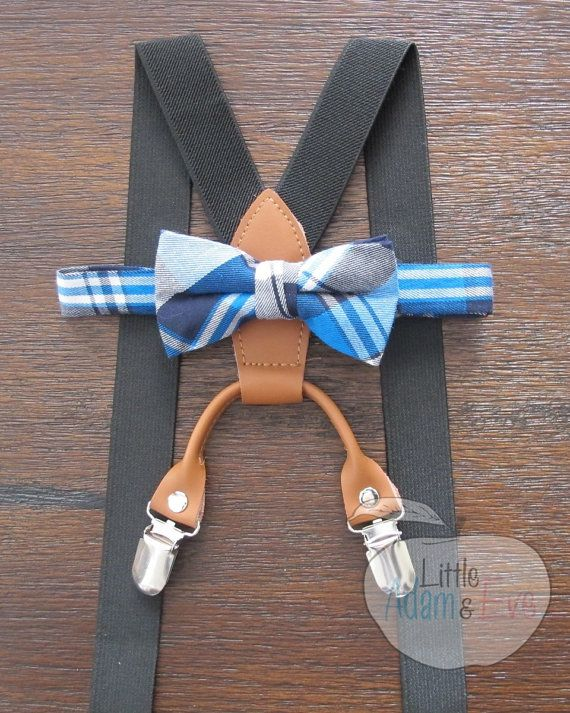Toddler Bow Tie and Suspenders Toddler Toddler by LittleAdamandEve