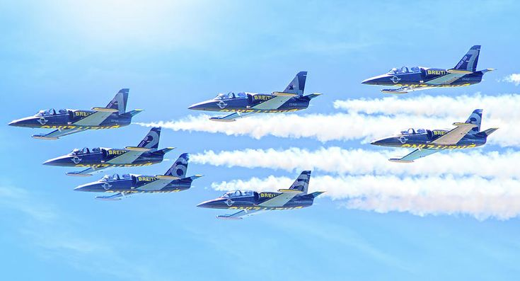 The Breitling Jet Team Photograph by Mark Andrew Thomas