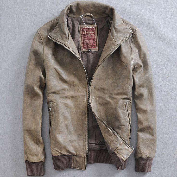 Marlboro Classics leather jacket Men's Casual Style