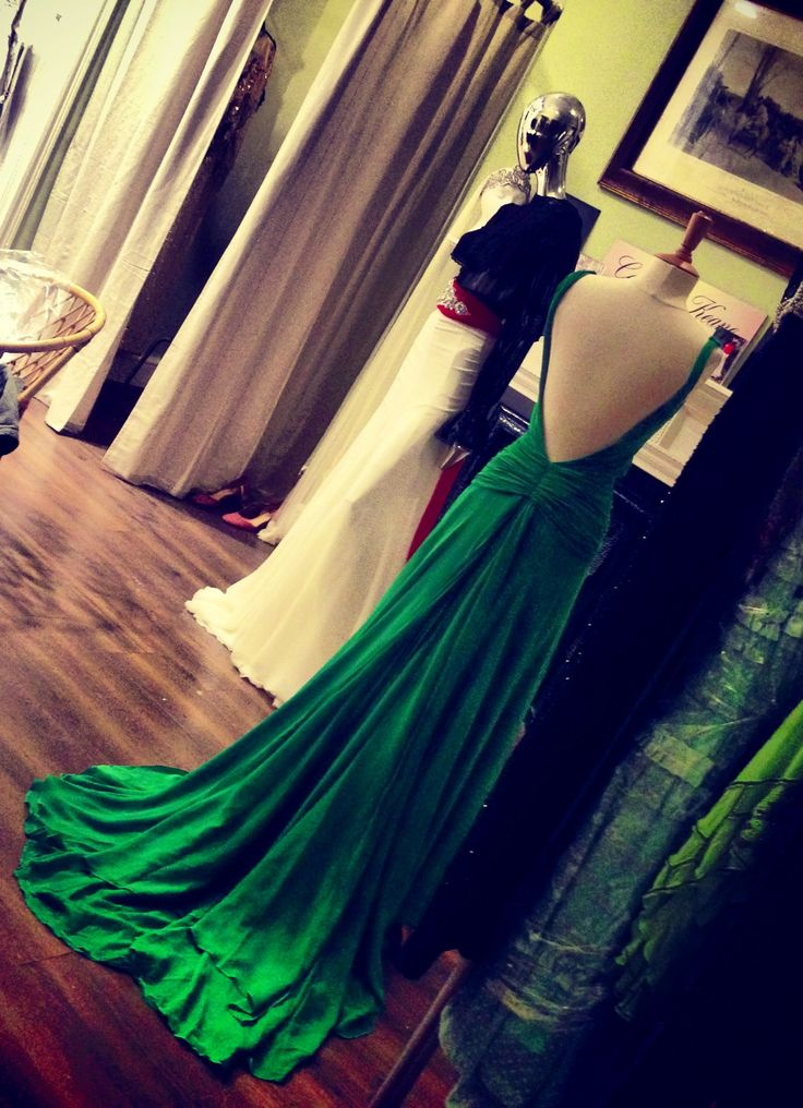 Back of the divine green dress