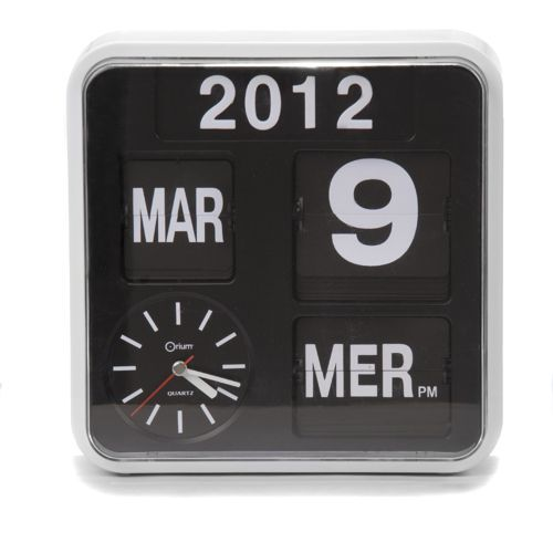 Calendrier / Horloge - Flip flap