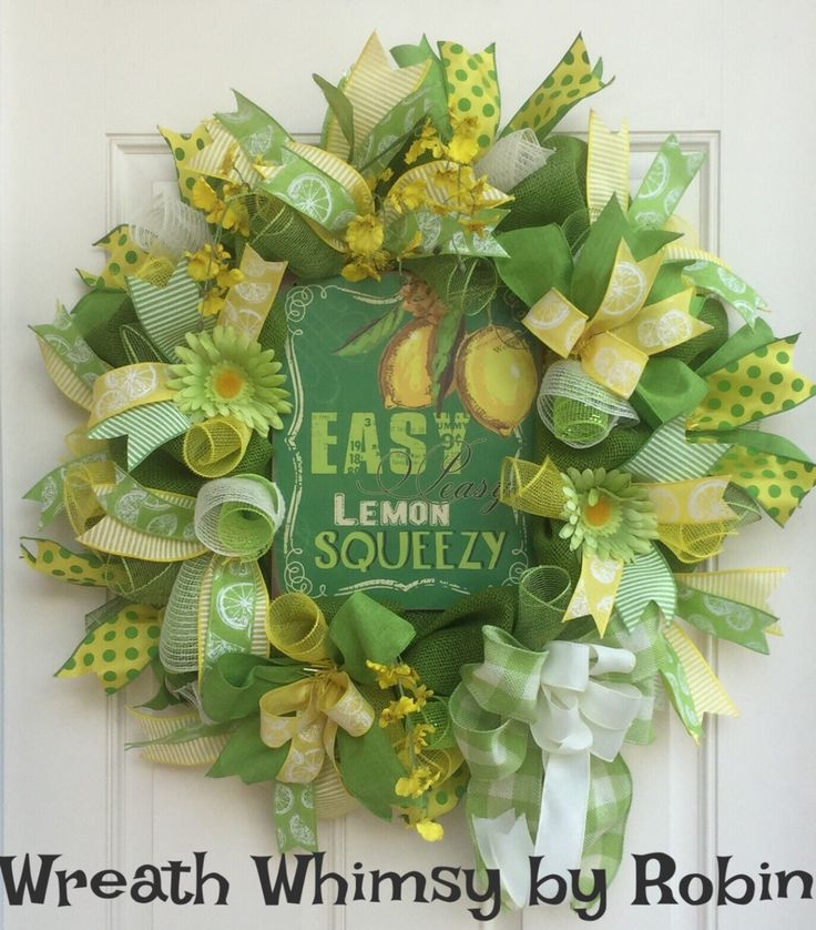 59 Best SpringSummer Wreaths Images On Pinterest Summer