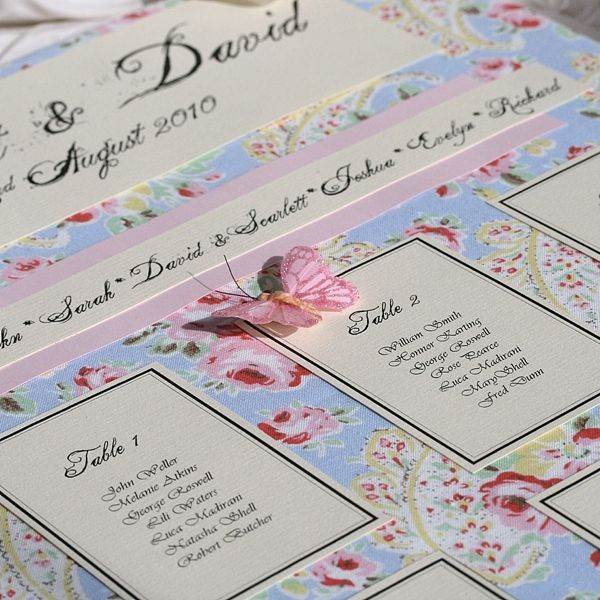 Free Place Cards With All Pretty Table Plans Purchased From 'Lovely Favours'