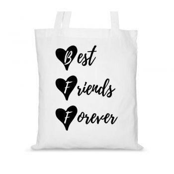 Torby bawełniane dla przyjaciółek BFF Best Friends Forever