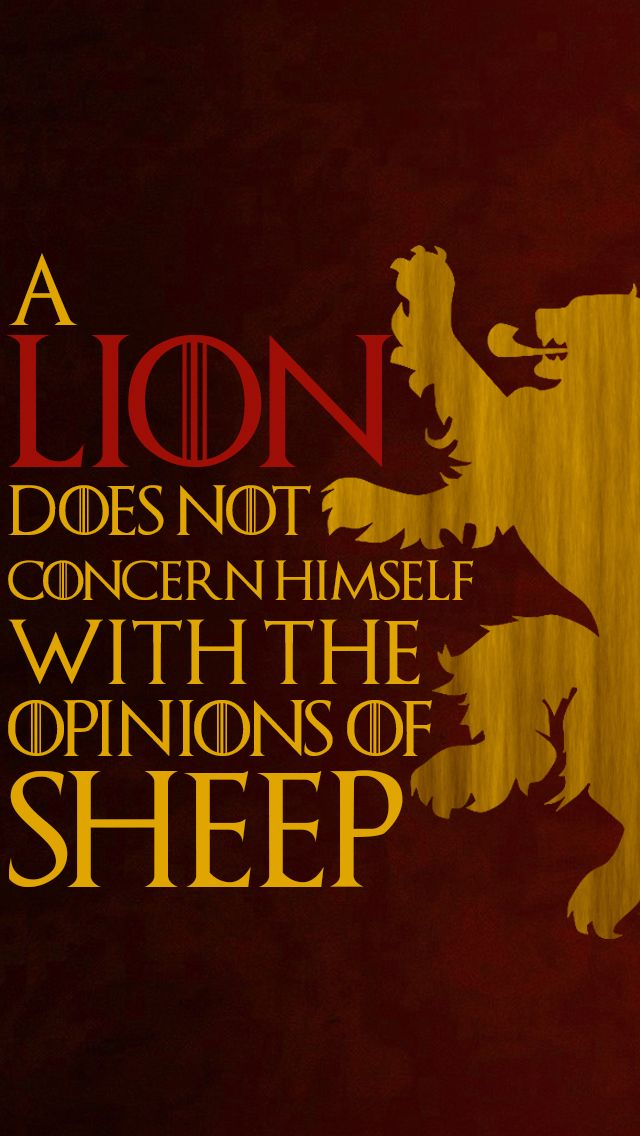 a lion does not concern himself | Iphone 5 Lion does not concern himself with the opinions of sheep ...