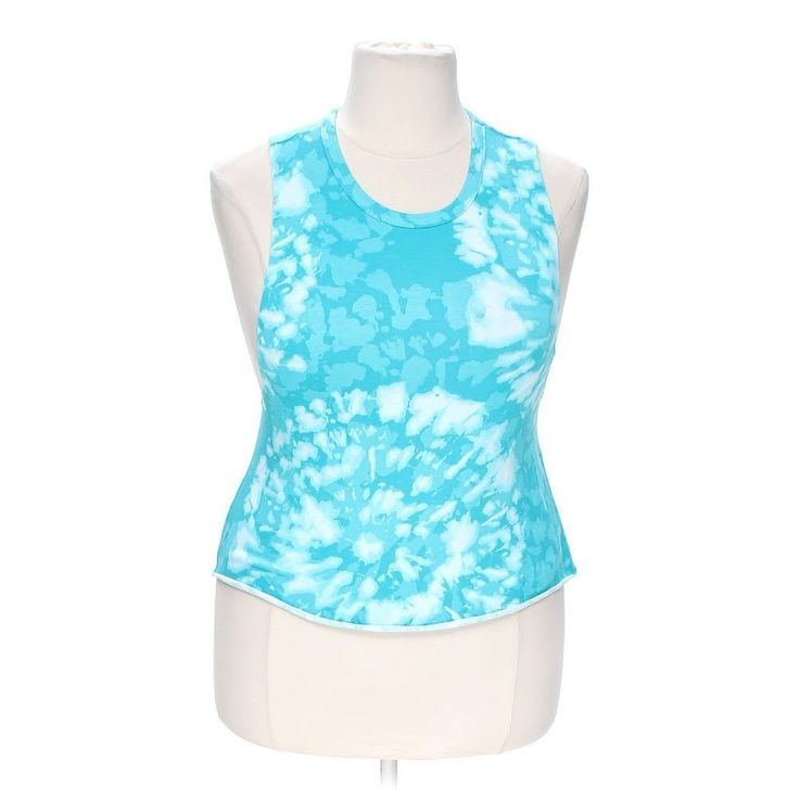 Body Central Women's Stylish Tank Top, size XL,  turquoise,  cotton, spandex #BodyCentral #TankTop