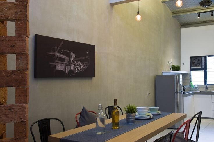 Simple and cozy single storey terrace house dining and kitchen.