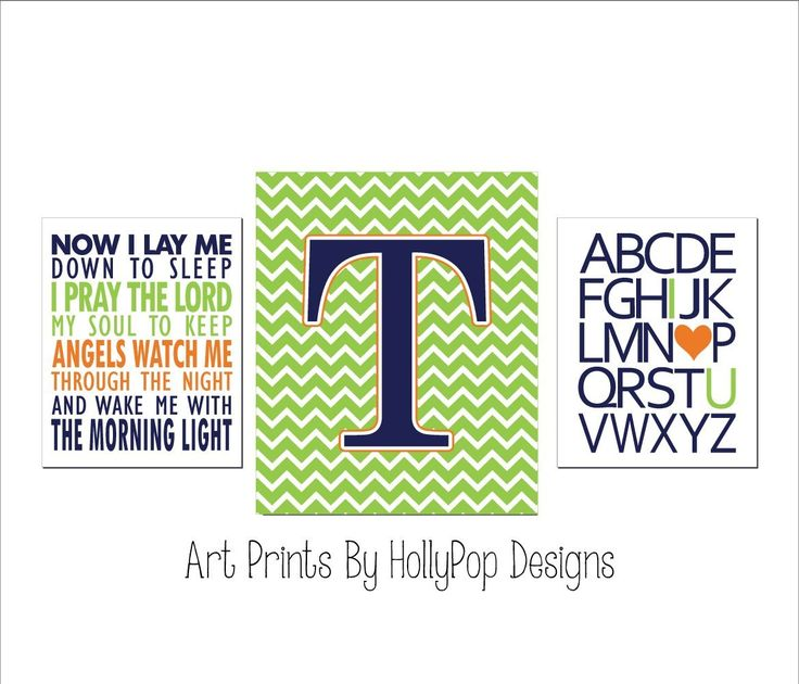 Navy lime green nursery art Baby Boy Nursery Decor Childrens Bedtime Prayer I love you alphabet art prints Boy Nursery Decor Boys Room art SET OF 3 UNFRAMED ART PRINTS #1422. 3 UNFRAMED Art prints printed on a professional grade photo paper. Designed in Navy, Orange, and lime green. Perfect for your little boys room! Prints size 8x10 or 11x14 come with a thin white border around stated print size and will be shipped in a flat mailer. Prints sized 12x16 and 13x19 are borderless and will be...