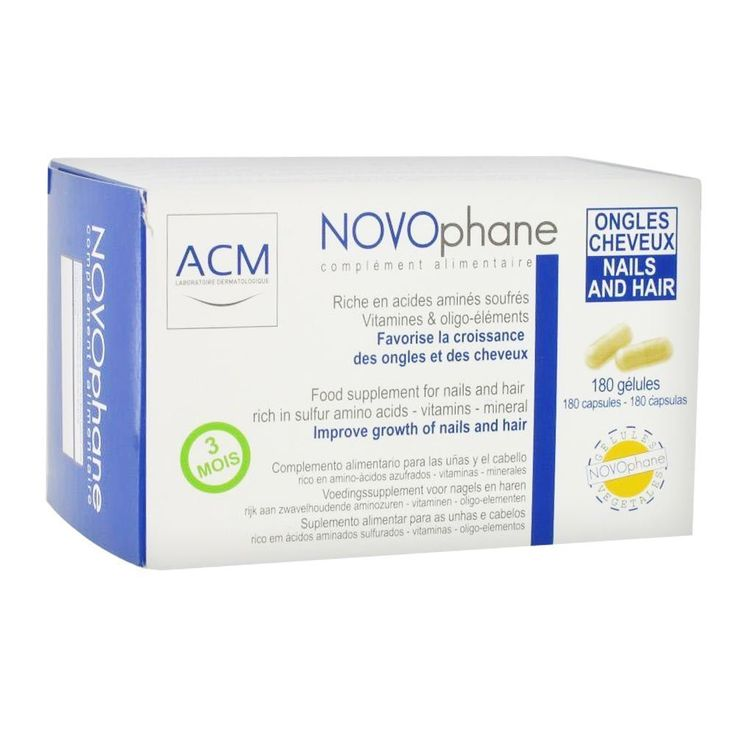 Novophane 180 Caps 3 Month Supply ACM Hair Loss Alopecia Hair and Nails Fragility Regrowth ** Read more reviews of the product by visiting the link on the image.
