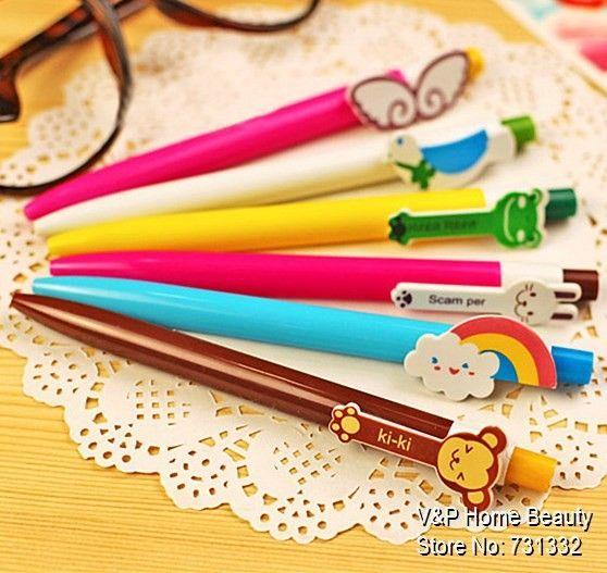 60 pçs/lote canetas esferográficas bonito Kawaii papelaria esferográfica grosso a granel caneta novidade escritório material escolar acessórios 6207 em de no AliExpress.com | Alibaba Group