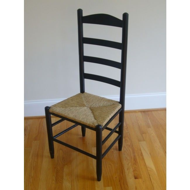 Dixie Seating Carolina Ladder Back Chair Finish Black
