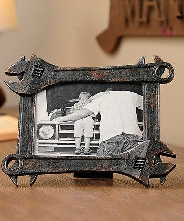 Love this Wrench Frame on Zulily...would be a great DIY project. #zulily! #zulilyfinds