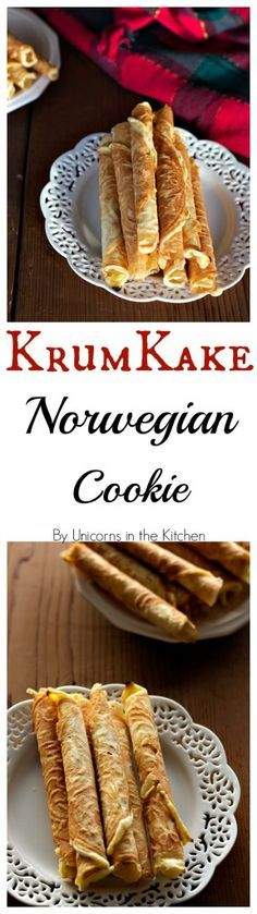 Krumkake is a delicate Norwegian cookie that is made through generations. It's decadent, delicious and worth every minute spent making it!