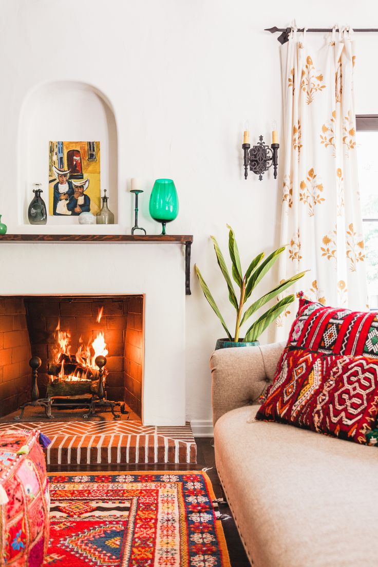 A Renovated Spanish Style Home Is Infused With Color. Moroccan Living RoomsRed  ... Part 49