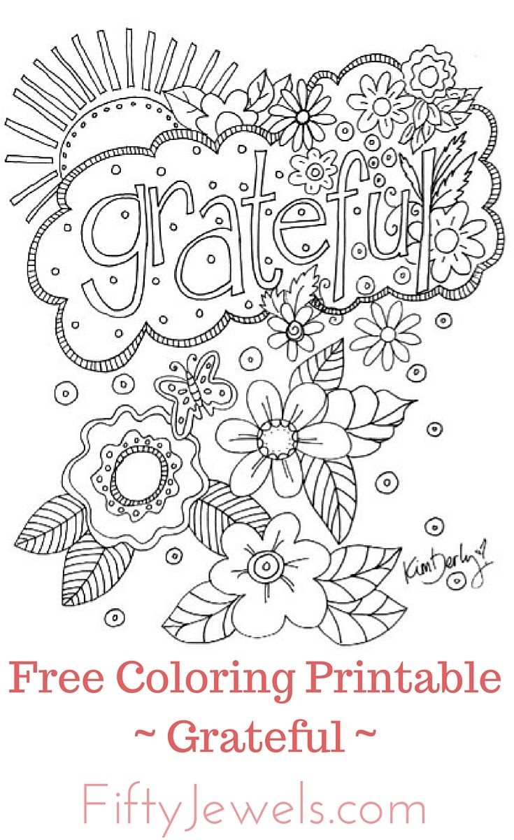 Free Adult Coloring Printable. Share as many copies as you want with family and friends!