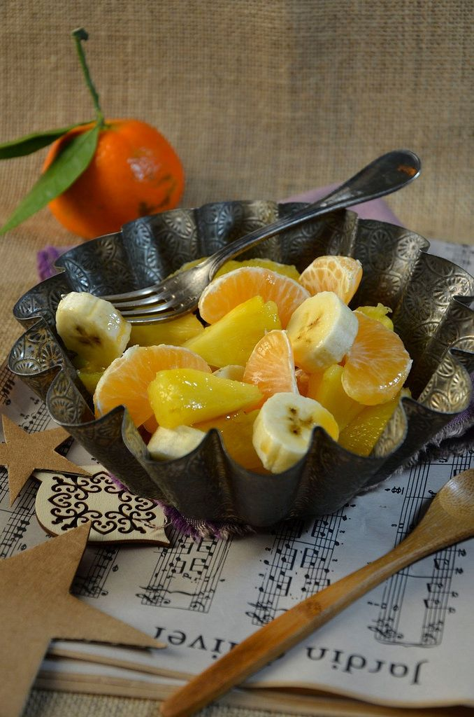 Pour cette dernière recette d'avant Noël, je vous propose une salade de fruits d'hiver ou exotique, c'est comme vous voulez pour le nom ;-)