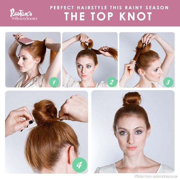 The moment you see it's raining outside makes you feel lazy to do anything especially to your hair. Wear this easy-to-do top knot that can hold up