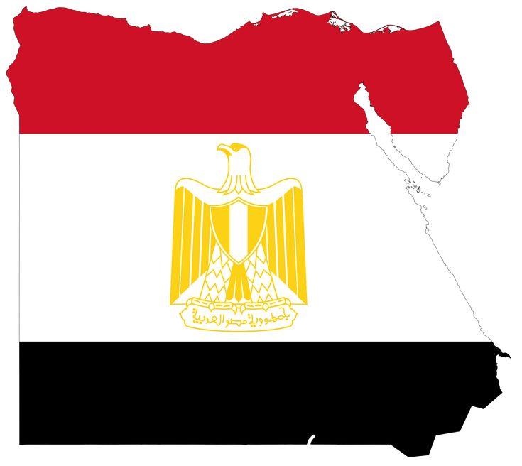 Egypt Flag Map - Mapsof.net