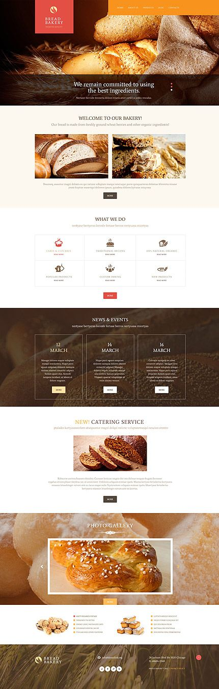 Premium Quality Bread Bakery #WordPress #template. #themes #business #responsive