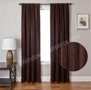 Gentlemen Pin Tuck Wool Blend Curtain Drapery Panel |  BestWindowTreatments.com