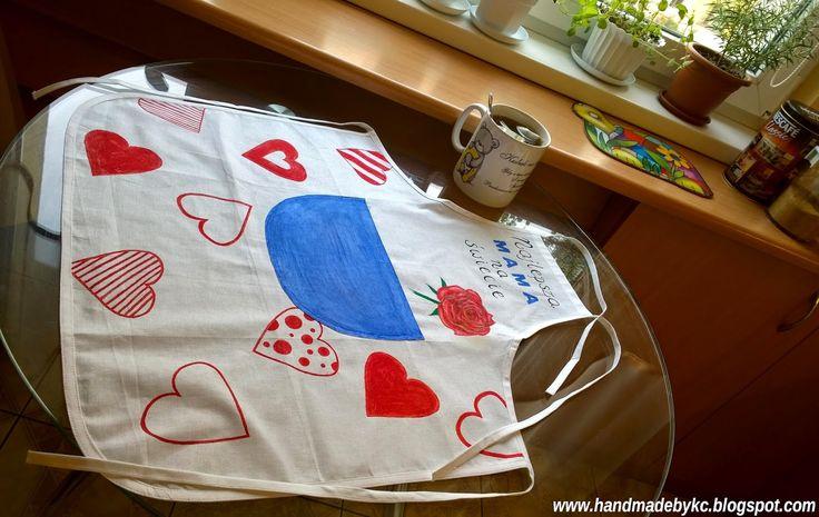 fartuch kuchenny #handmade #diy ręcznie malowany