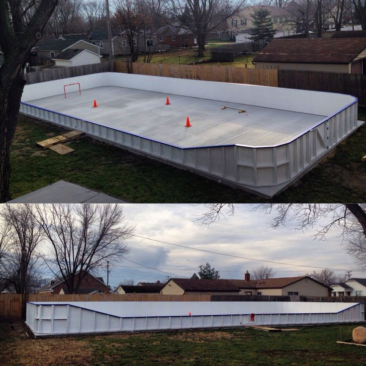 Best Ice Hockey Rink Ideas On Pinterest Hockey Stuff Ice - Backyard roller hockey rink