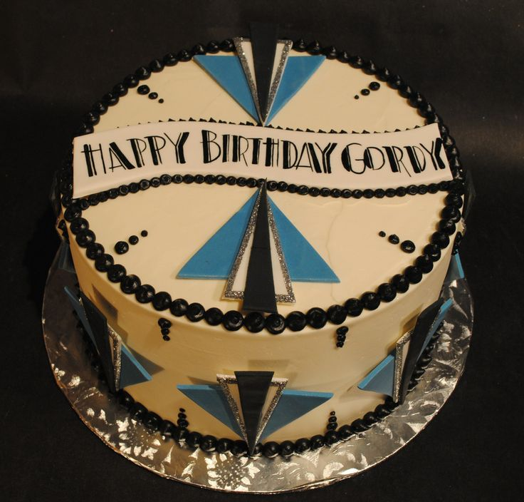 Art Deco Birthday Cake : Art Deco Birthday Cake Cake ideas Pinterest Art deco ...