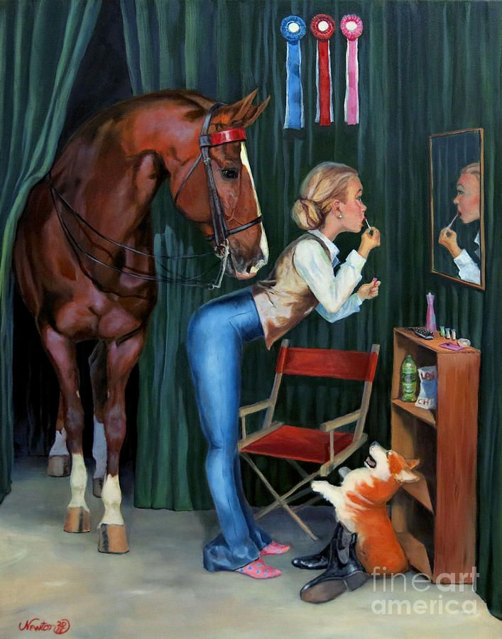 American Saddlebred Painting - Finishing Touches by Jeanne Newton Schoborg