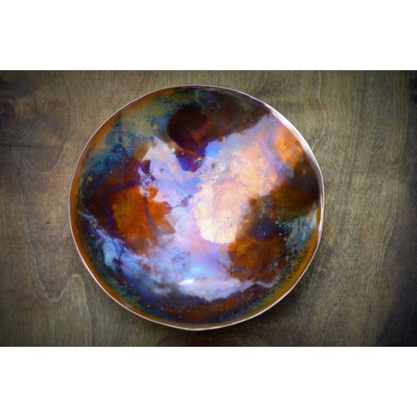 Hammered Copper Bowl Copper Anniversary Gifts Gift for Men 7th... ($108) ❤ liked on Polyvore featuring men's fashion