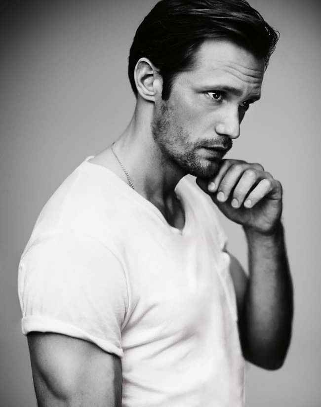 Alexander Skarsgård (the source link takes you to a transcript of an interview GQ Australia has done with Alex for their December 2012/January 2013 issues). Enjoy =)