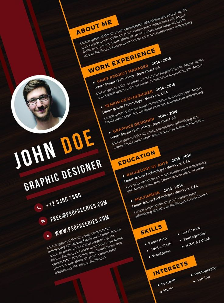 cv resume john doe  u2013 entretiengo modern resume template