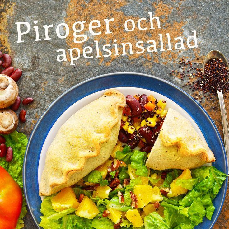 Piroger och apelsinsallad! Receptet finns i meny 26. Ha en fin måndag! 😊  www.allaater.se