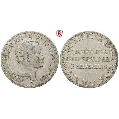 Brandenburg-Preussen, Königreich Preussen, Friedrich Wilhelm IV., Ausbeutetaler 1841, ss+: Friedrich Wilhelm IV. 1840-1861.… #coins