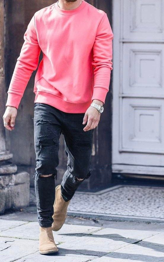 fancy pink mens outfits shoes