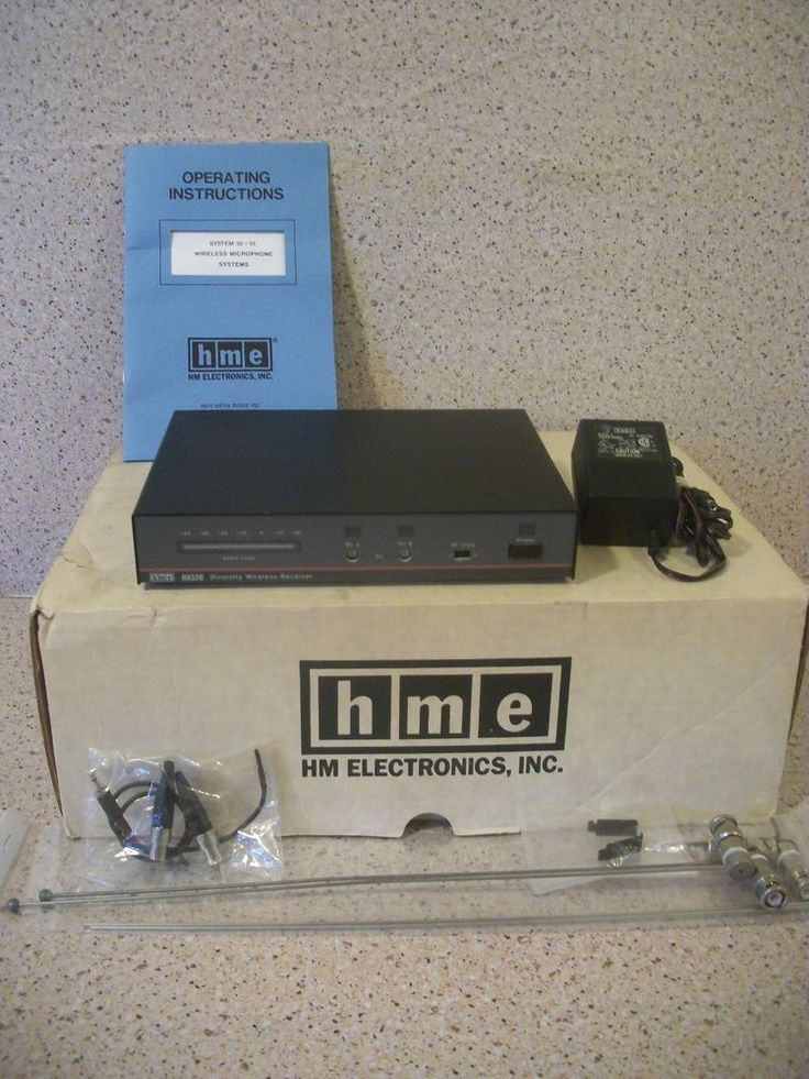 HM Electronics HME RX520 Wireless Receiver w/box, antennas