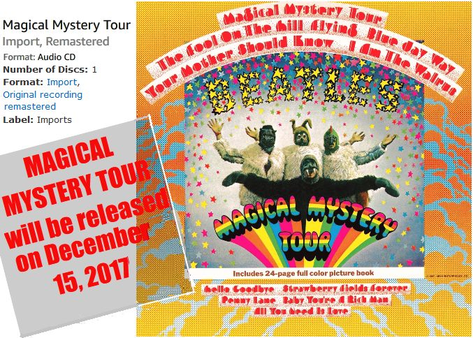 NEW RELEASE : MAGICAL MYSTERY TOUR (CD/ 15 DECEMBER, 2017) Label:Imports... #THEBEATLES #BEATLES http://beatlesmagazineuk.com/new-release-magical-mystery-tour-cdlabelimports-15-december-2017/ #50thanniversary
