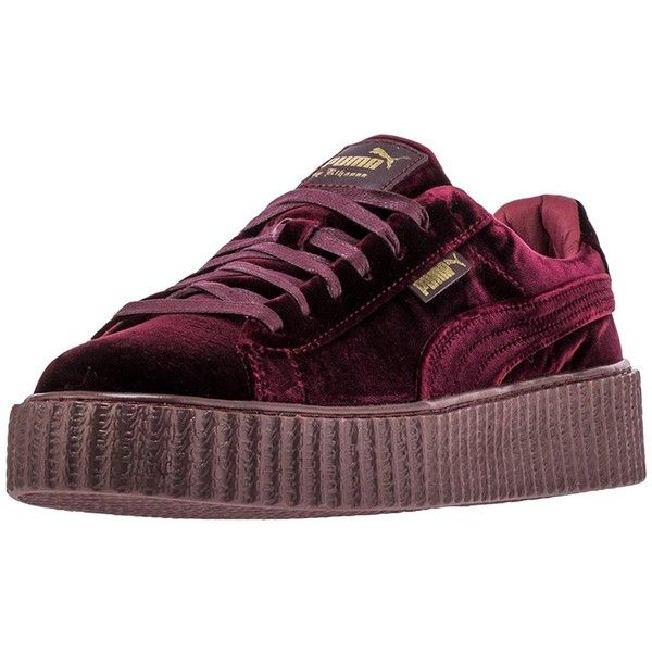 Amazon.com | Puma X Rihanna Women's Velvet Creeper US7.5 | Fashion... ($123) ❤ liked on Polyvore featuring shoes, sneakers, puma footwear, velvet shoes, puma trainers, velvet sneakers and puma shoes