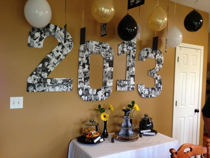100 best images about graduation centerpiece on pinterest for Balloon decoration graduation