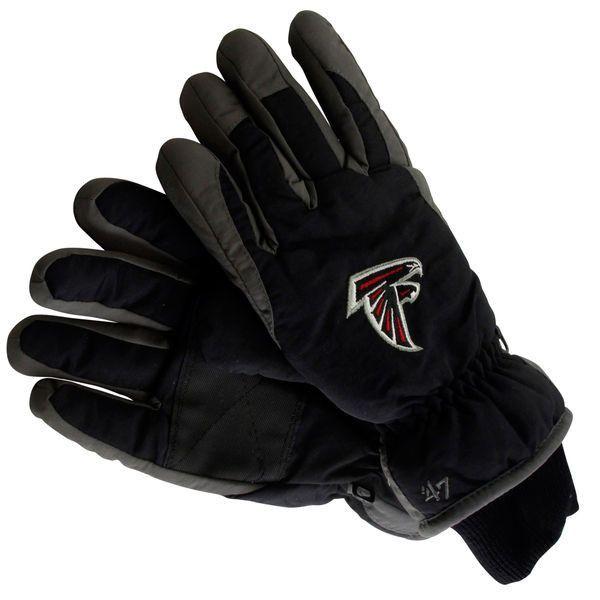 47 Brand Atlanta Falcons Youth Carve Ski Gloves - Black