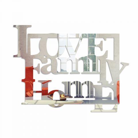 Lustro dekoracyjne LOVE FAMILY HOME plexi
