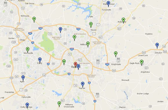 WakeGOV early voting locations