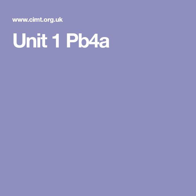 Unit 1 Pb4a
