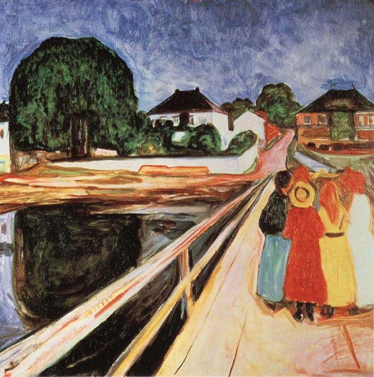 Girls on a bridge, Edvard Munch, 1902