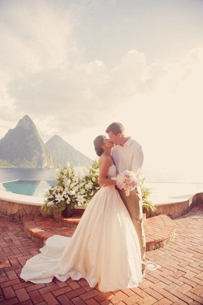 Tropical destination wedding in St.Lucia