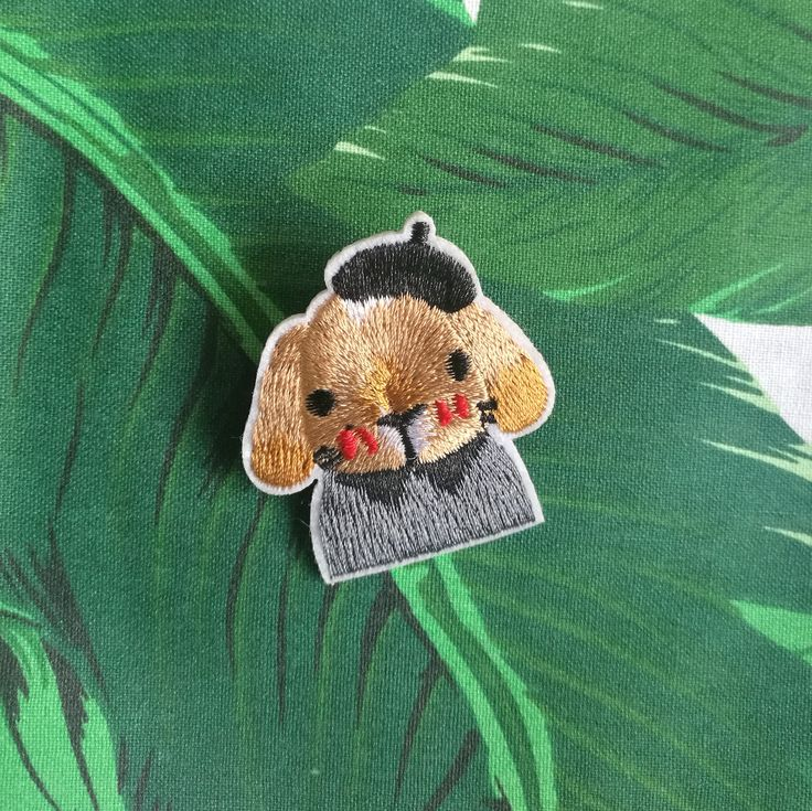 French Artists Bunny Patches | Embroidered Patches | Beret Hat Bunny Embroidery | Christmas Gift