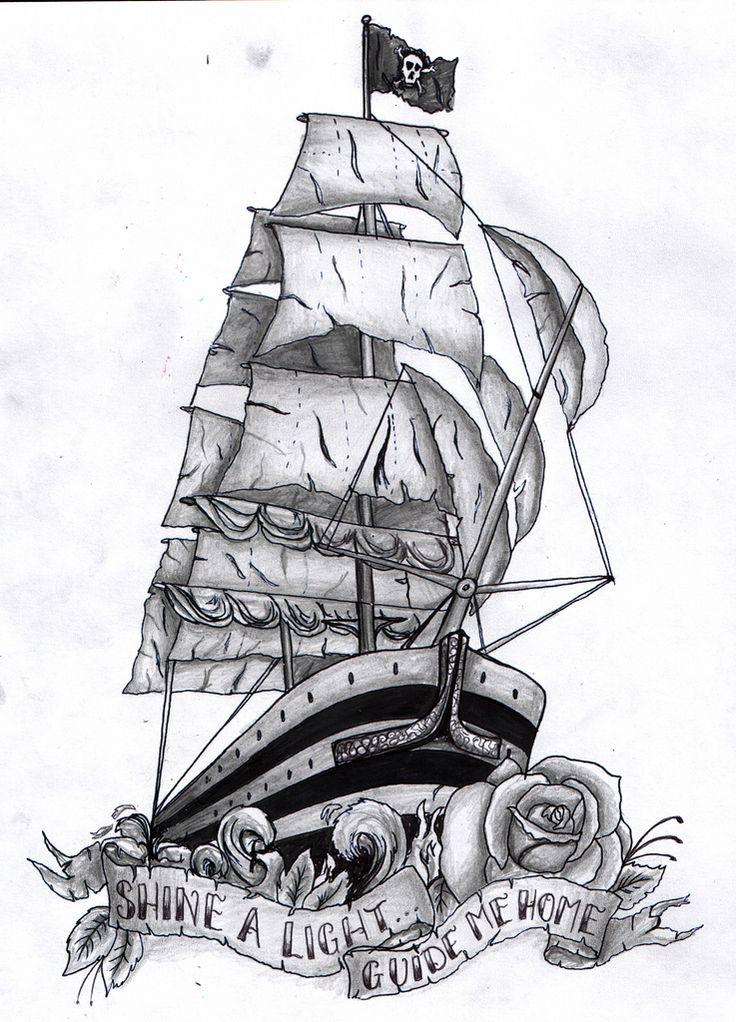 I love pirate ship tattoos!