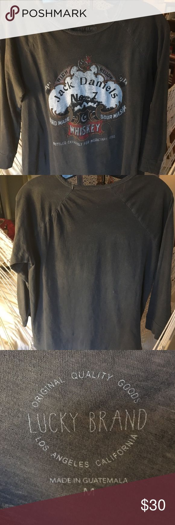 Jack Daniels Lucky Brand T shirt Cute cotton T never been worn Lucky Brand Tops